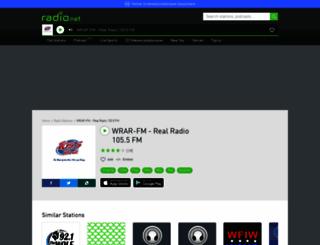 wrar-fm.radio.net screenshot