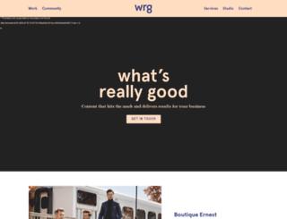 wrgcommunications.com screenshot