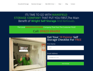 wright-self-storage-mansfield.co.uk screenshot