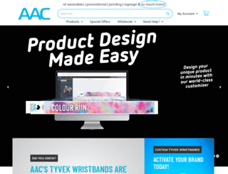 wristbands.com.au screenshot