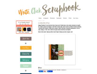 writeclickscrapbook.com screenshot