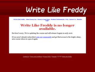 writelikefreddy.com screenshot