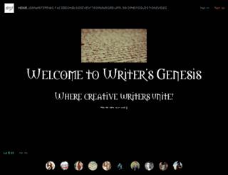 writersgenesis.com screenshot