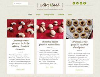 writes4food.com screenshot