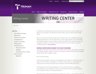 writingcenter.truman.edu screenshot