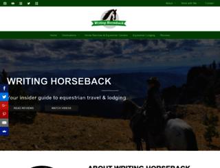 writinghorseback.com screenshot
