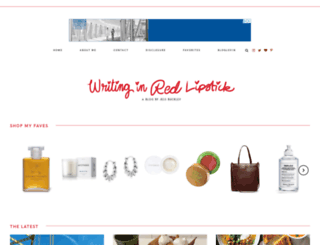 writinginredlipstick.com screenshot