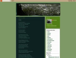 writingwaynorth.blogspot.com screenshot