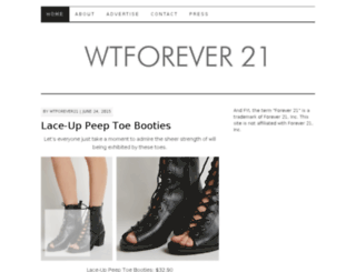 wtforever21.com screenshot