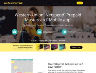 wunetspendprepaid.com screenshot