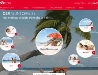 wunschreise.der.com screenshot