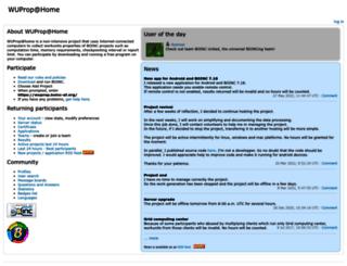 wuprop.boinc-af.org screenshot