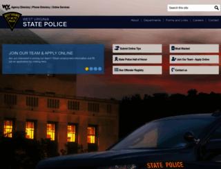 wvstatepolice.com screenshot