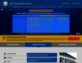 wvsu.edu.ph screenshot