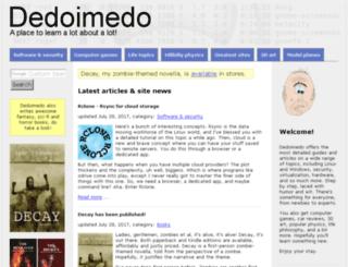ww.dedoimedo.com screenshot