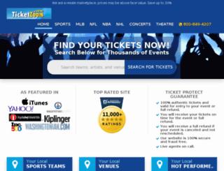 ww.ticketzoom.com screenshot