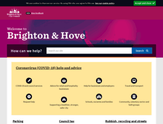 ww3.brighton-hove.gov.uk screenshot