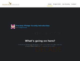 www-acceptance.pledgexchange.com screenshot