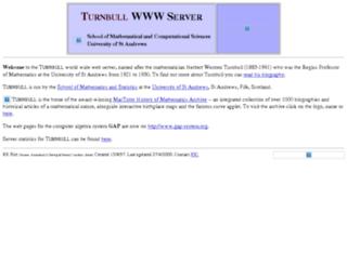 www-gap.dcs.st-and.ac.uk screenshot