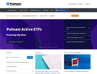 www-uat.putnam.com screenshot