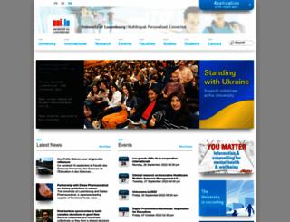 wwwen.uni.lu screenshot