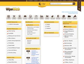 wyoweb.uwyo.edu screenshot