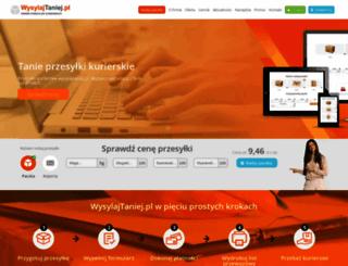 wysylajtaniej.pl screenshot
