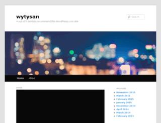 wytysan.wordpress.com screenshot