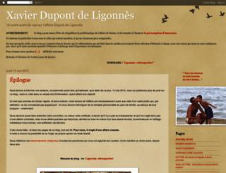 xavierdupontdeligonnes.blogspot.fr screenshot