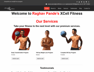 xcellfitness.co.in screenshot