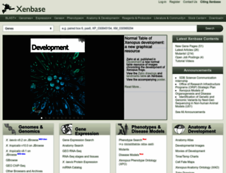 xenbase.org screenshot