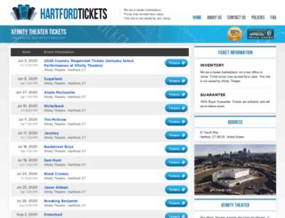 xfinity.theatrehartford.com screenshot