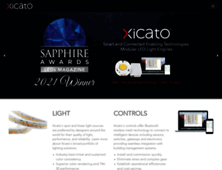 xicato.com screenshot