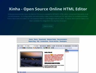 xinha.org screenshot
