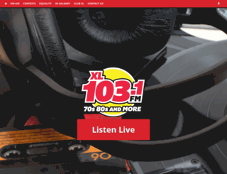 xl103calgary.com screenshot