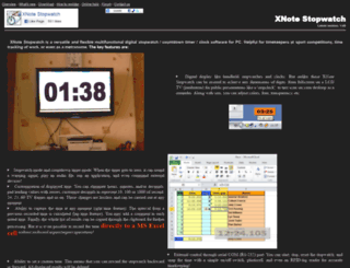 xnotestopwatch.com screenshot
