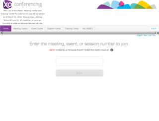 xomeeting.webex.com screenshot