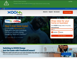 xoomenergy.com screenshot