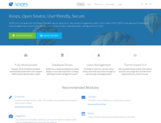 xoops.sf.net screenshot