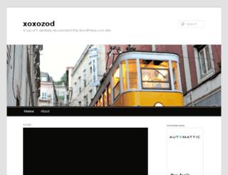 xoxozod.wordpress.com screenshot