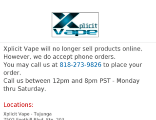 xplicitvape.com screenshot