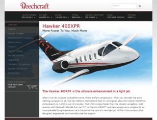 xpr.hawkerbeechcraft.com screenshot