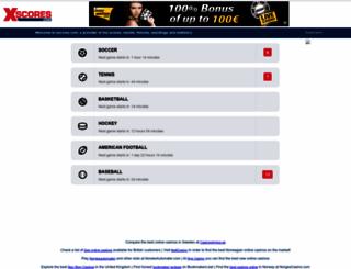 xscores.com screenshot
