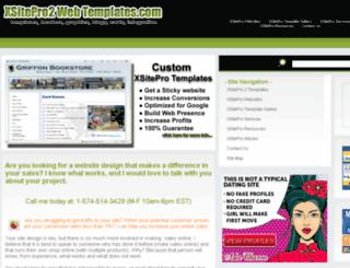 xsitepro2webtemplates.com screenshot