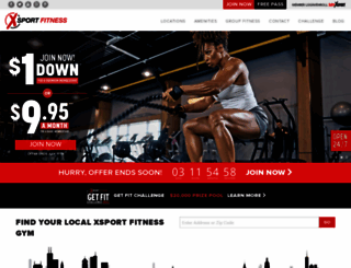 xsportfitness.com screenshot