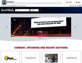 xvest.neofillbids.com screenshot