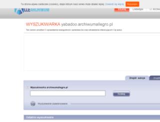 yabadoo.archiwumallegro.pl screenshot