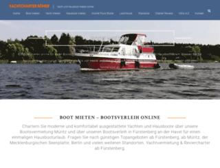 yachtcharter-roemer.de screenshot