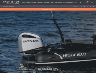 yachtshop.co.uk screenshot