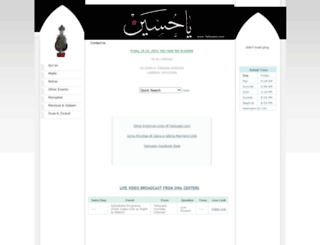 yahusain.com screenshot